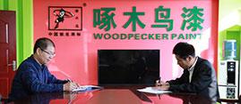中国新型涂料网与啄木鸟漆业集团达成深度战略合作伙伴关系