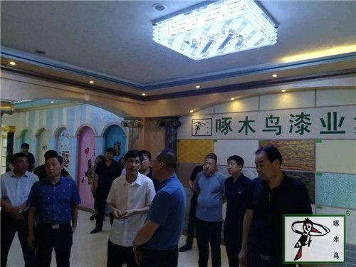 绥中县领导一行莅临啄木鸟漆业参观、指导