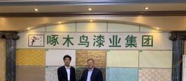热烈欢迎中国建材集团泰山石膏有限公司领导莅临啄木鸟漆业集团考察
